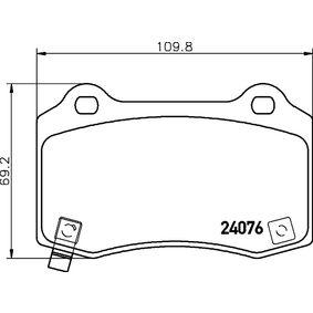 Bremsbelagsatz, Scheibenbremse Breite: 109,8mm, Höhe: 69,2mm, Dicke/Stärke: 14,8mm mit OEM-Nummer 68003610AA