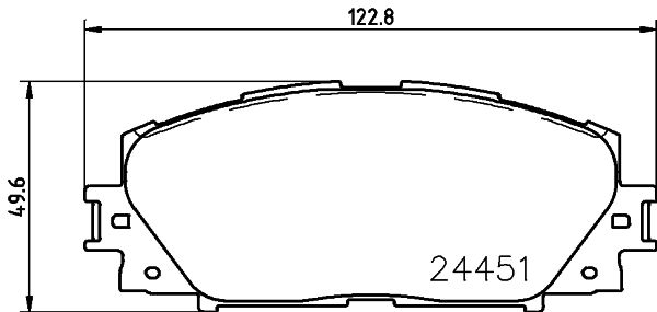 Bremsbeläge 8DB 355 014-311 HELLA 8538D1184 in Original Qualität