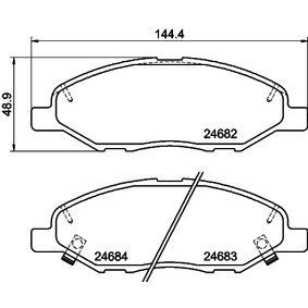 2011 Nissan Note E11 1.4 Brake Pad Set, disc brake 8DB 355 014-371