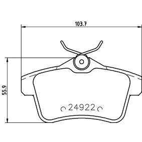 2016 Peugeot 3008 Mk1 1.2 Brake Pad Set, disc brake 8DB 355 014-531