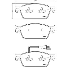 Bremsbelagsatz, Scheibenbremse Breite: 193,1mm, Höhe: 75mm, Dicke/Stärke: 18,1mm mit OEM-Nummer 7E0698151
