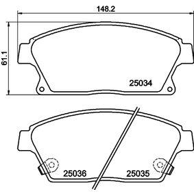 Bremsbelagsatz, Scheibenbremse Breite: 148mm, Höhe: 61,1mm, Dicke/Stärke: 18,8mm mit OEM-Nummer 95 516 193