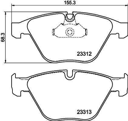 Bremsbeläge 8DB 355 015-391 HELLA 7799D918 in Original Qualität