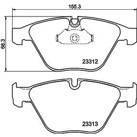 Bremsbelagsatz, Scheibenbremse Breite 2: 155,3mm, Höhe 2: 68,3mm, Dicke/Stärke: 20,3mm mit OEM-Nummer 34 11 2 339 270