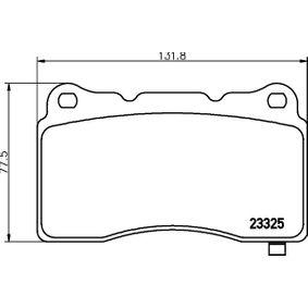 Bremsbelagsatz, Scheibenbremse Breite: 131,8mm, Höhe: 77,5mm, Dicke/Stärke: 16mm mit OEM-Nummer 581012MA10