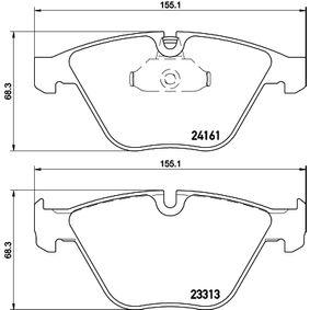 Bremsbelagsatz, Scheibenbremse Breite: 155,3mm, Höhe: 68,3mm, Dicke/Stärke: 20,3mm mit OEM-Nummer 24161
