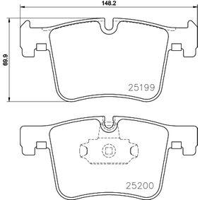 Brake Pad Set, disc brake 8DB 355 015-781 3 Saloon (F30, F80) 335i 3.0 MY 2014