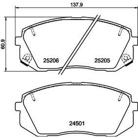 2013 Kia Sportage Mk3 2.4 Brake Pad Set, disc brake 8DB 355 015-841