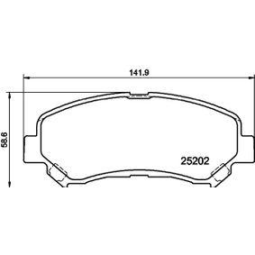 Brake Pad Set, disc brake 8DB 355 015-911 Qashqai / Qashqai +2 I (J10, NJ10) 1.5 dCi MY 2013