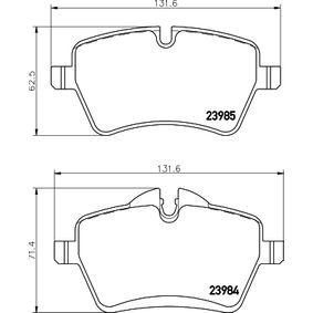 Bremsbelagsatz, Scheibenbremse Breite: 131,6mm, Höhe 1: 71,4mm, Höhe 2: 62,5mm, Dicke/Stärke: 18mm mit OEM-Nummer 3411 6 778 320