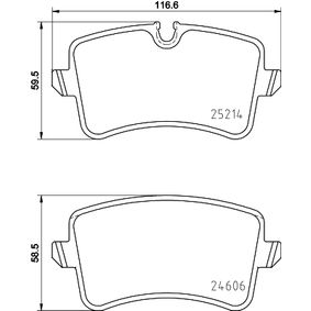 Bremsbelagsatz, Scheibenbremse Breite: 116,6mm, Höhe 1: 60mm, Höhe 2: 59mm, Dicke/Stärke: 17,5mm mit OEM-Nummer 4G0 698 451B