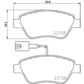 Bremsbelagsatz, Scheibenbremse Breite: 122,8mm, Höhe: 53,3mm, Dicke/Stärke: 17,8mm mit OEM-Nummer 7 177 011 8