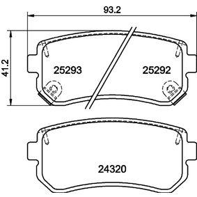 2015 Kia Sportage Mk3 2.4 Brake Pad Set, disc brake 8DB 355 016-221