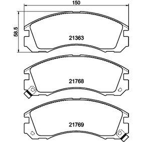 Kit pastiglie freno, Freno a disco 8DB 355 016-531 Pajero Sport 1 SUV (K7_, K9_) 3.2 TDi ac 2008