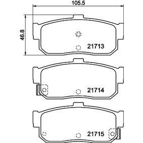 Bremsbelagsatz, Scheibenbremse Breite: 105,3mm, Höhe: 46,8mm, Dicke/Stärke: 16,4mm mit OEM-Nummer 440604U090