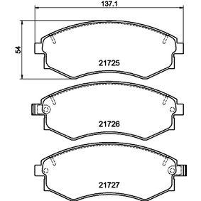 Bremsbelagsatz, Scheibenbremse Breite: 137mm, Höhe: 54mm, Dicke/Stärke: 17mm mit OEM-Nummer 58101-38A00