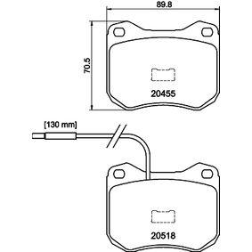 Brake Pad Set, disc brake Article № 8DB 355 017-421 £ 140,00