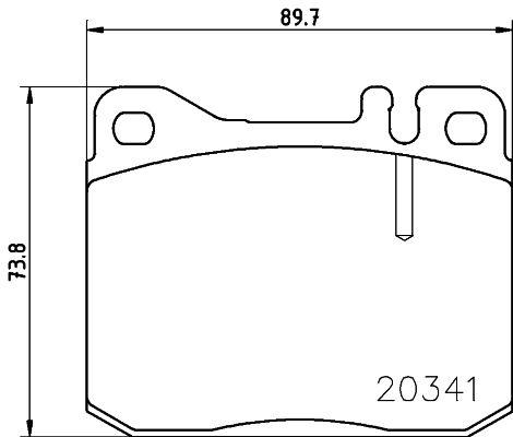 Bremsbeläge 8DB 355 017-431 HELLA 7111D145 in Original Qualität