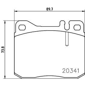 Bremsbelagsatz, Scheibenbremse Breite: 89,8mm, Höhe: 73,8mm, Dicke/Stärke: 17,5mm mit OEM-Nummer A00 042 06 020