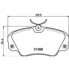 Bremsbelagsatz, Scheibenbremse Breite: 129,8mm, Höhe: 63,9mm, Dicke/Stärke: 18,3mm mit OEM-Nummer 1605 004