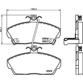 Комплект спирачно феродо, дискови спирачки ширина: 129,2мм, височина: 69,7мм, дебелина: 18мм с ОЕМ-номер GBP90313