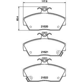 Bremsbelagsatz, Scheibenbremse Breite: 117,3mm, Höhe: 65,4mm, Dicke/Stärke: 18mm mit OEM-Nummer GBP90314