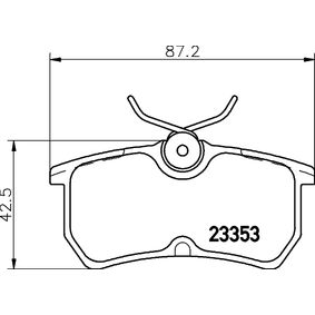 Brake Pad Set, disc brake Width: 87,2mm, Height: 42,5mm, Thickness: 14mm with OEM Number 5 382 847