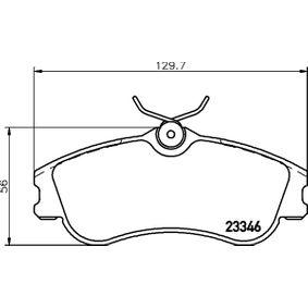 Bremsbelagsatz, Scheibenbremse Breite: 129,7mm, Höhe: 56mm, Dicke/Stärke: 19,3mm mit OEM-Nummer E172536