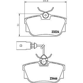 Bremsbelagsatz, Scheibenbremse Breite: 94,8mm, Höhe: 51mm, Dicke/Stärke: 17,3mm mit OEM-Nummer 701698451C