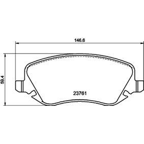 Bremsbelagsatz, Scheibenbremse Breite: 146,7mm, Höhe: 59,5mm, Dicke/Stärke: 18,8mm mit OEM-Nummer 7 736 227 2