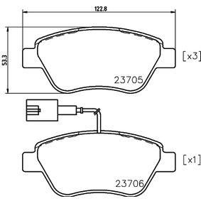 Bremsbelagsatz, Scheibenbremse Breite: 122,8mm, Höhe: 53,3mm, Dicke/Stärke: 17,8mm mit OEM-Nummer 7 736 489 3