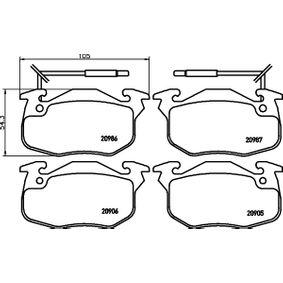 Bremsbelagsatz, Scheibenbremse Breite: 105mm, Höhe: 54,3mm, Dicke/Stärke: 18mm mit OEM-Nummer 424862