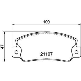 Bremsbelagsatz, Scheibenbremse Breite: 109mm, Höhe: 47,5mm, Dicke/Stärke: 12mm mit OEM-Nummer 5 888 939