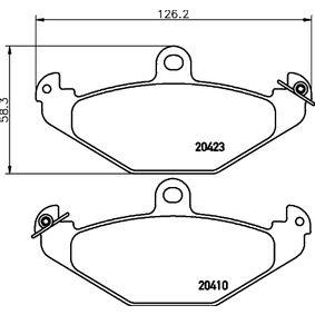 Bremsbelagsatz, Scheibenbremse Breite: 125,8mm, Höhe: 58,3mm, Dicke/Stärke: 15mm mit OEM-Nummer 7701 203 124