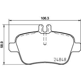 Bremsbelagsatz, Scheibenbremse Breite: 106,4mm, Höhe: 58,9mm, Dicke/Stärke: 18,4mm mit OEM-Nummer A007 420 9420