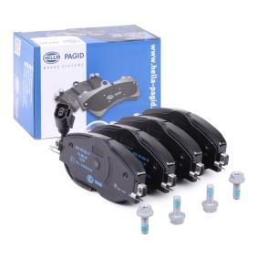 Bremsbelagsatz, Scheibenbremse Breite: 160,2mm, Höhe: 64,5mm, Dicke/Stärke: 20,3mm mit OEM-Nummer 5Q0 698 151