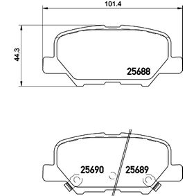 Kit pastiglie freno, Freno a disco 8DB 355 020-291 ASX (GA_W_) 2.4 4WD ac 2014