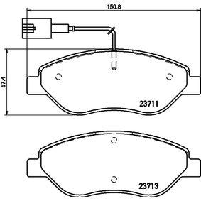 Bremsbelagsatz, Scheibenbremse Breite: 150,8mm, Höhe: 57,4mm, Dicke/Stärke: 19,4mm mit OEM-Nummer 9949279