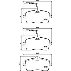 Bremsbelagsatz, Scheibenbremse Breite: 131,4mm, Höhe: 66,8mm, Dicke/Stärke: 18,7mm mit OEM-Nummer 4254-78