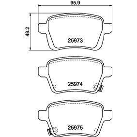 Bremsbelagsatz, Scheibenbremse Breite: 95,7mm, Höhe: 48,2mm, Dicke/Stärke: 16,8mm mit OEM-Nummer 7 736 659 5