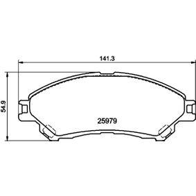 Bremsbelagsatz, Scheibenbremse Breite: 141,7mm, Höhe: 54,9mm, Dicke/Stärke: 16,8mm mit OEM-Nummer 55810-61M50