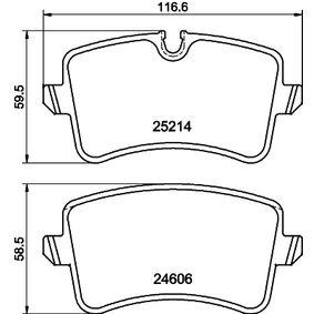 Kit de plaquettes de frein, frein à disque Largeur: 116,6mm, Hauteur 1: 60mm, Hauteur 2: 59mm, Épaisseur: 17,5mm avec OEM numéro 9A7 698 451 00