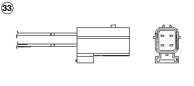 Lambda Sensor 0284 NGK OZA527E8 in Original Qualität