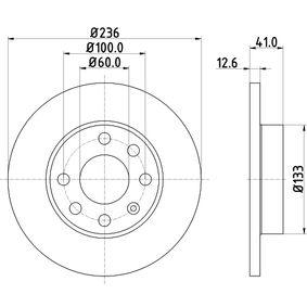 Спирачен диск 8DD 355 100-431 Corsa B Хечбек (S93) 1.7D (F08, F68, M68) Г.П. 1997