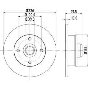 Bremsscheibe Bremsscheibendicke: 10,0mm, Ø: 226mm mit OEM-Nummer 191615601A