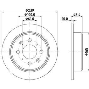 Спирачен диск дебелина на спирачния диск: 10мм, Ø: 239мм с ОЕМ-номер 42510 SK3 E00