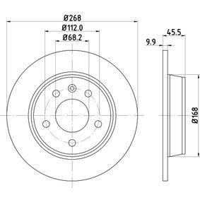 Bremsscheibe Bremsscheibendicke: 9,9mm, Ø: 268mm mit OEM-Nummer 1137985