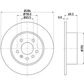 Bremsscheibe Bremsscheibendicke: 9,9mm, Ø: 286mm mit OEM-Nummer 483 9338
