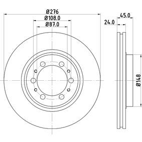 Brake Disc Brake Disc Thickness: 24mm, Ø: 276mm with OEM Number MB 928 697