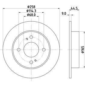 Disco de freno 8DD 355 105-171 Sentra 5 (B15) 2.0 ac 2000